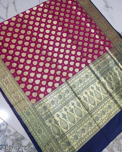 (R5Pink) Fabulous TrenDy Banarsi Silk Saree
