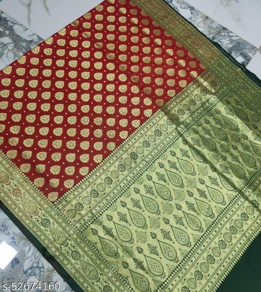 (R5Red) Fabulous TrenDy Banarsi Silk Saree