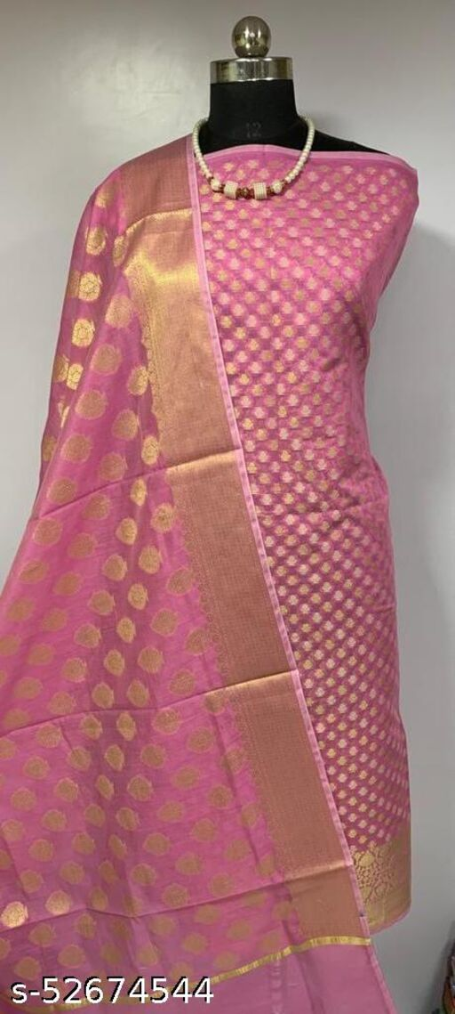 (K1Pink) TRenDy Banarsi Cotton Suit And Dress Material