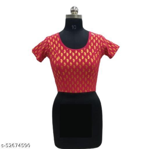 CRETA WITH FOIL PRINT Stretchable Blouse