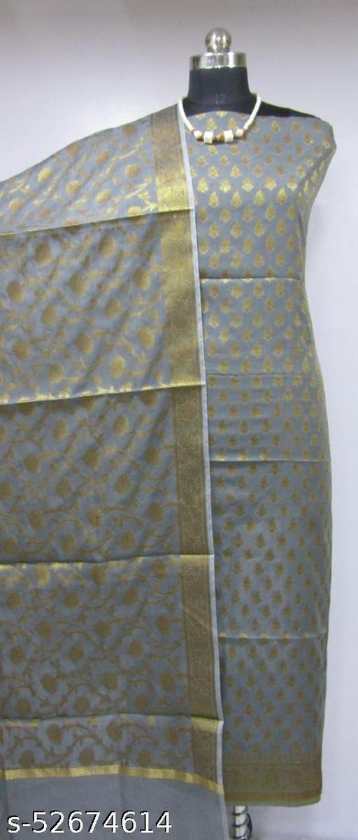 (K4Grey) Fabulous Banarsi Cotton Suit And Dress Material
