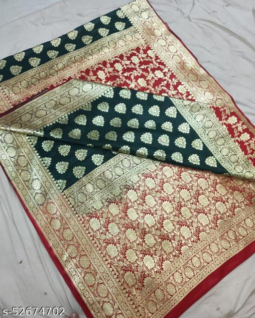 (K13Green) Fabulous Banarsi Partly Silk Saree Specially For Weddings