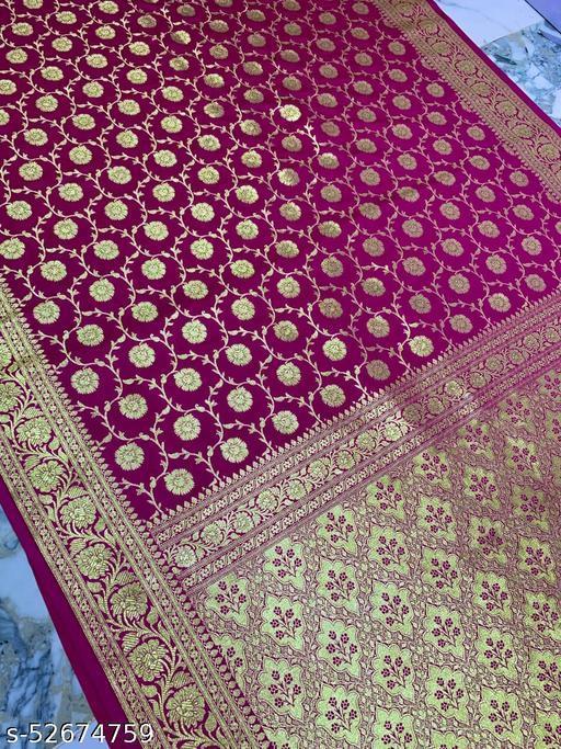 (K17Pink) Banarsi Kataan Silk Saree Specially For Weddings
