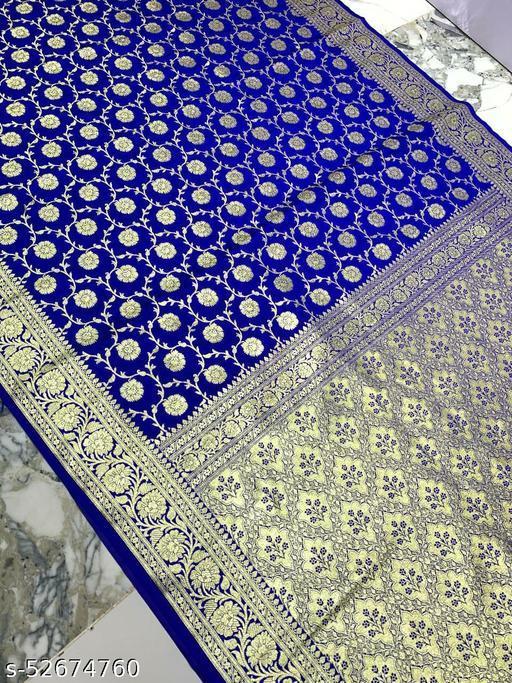 (K17Blue) Banarsi Kataan Silk Saree Specially For Weddings