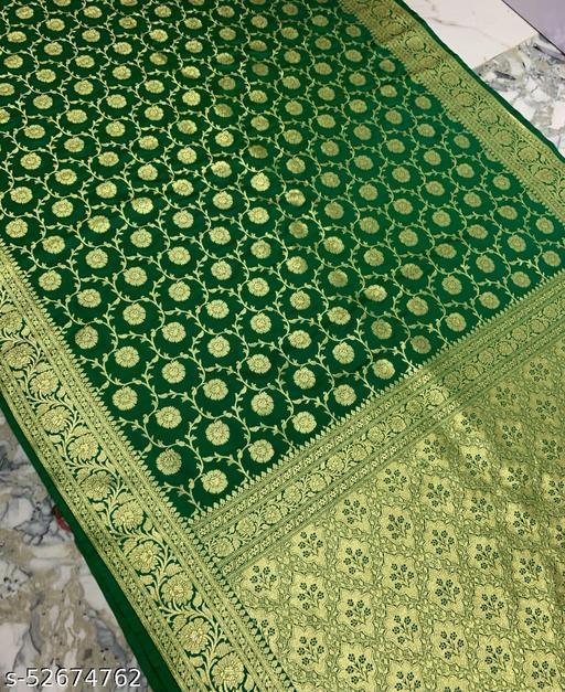 (K17Green) Banarsi Kataan Silk Saree Specially For Weddings