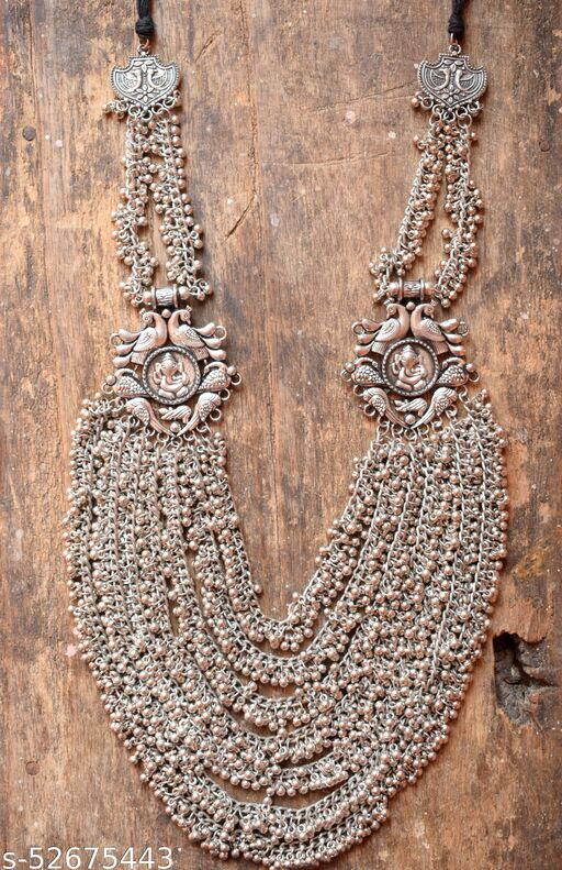 Designer Long Bead Ganesha Necklace