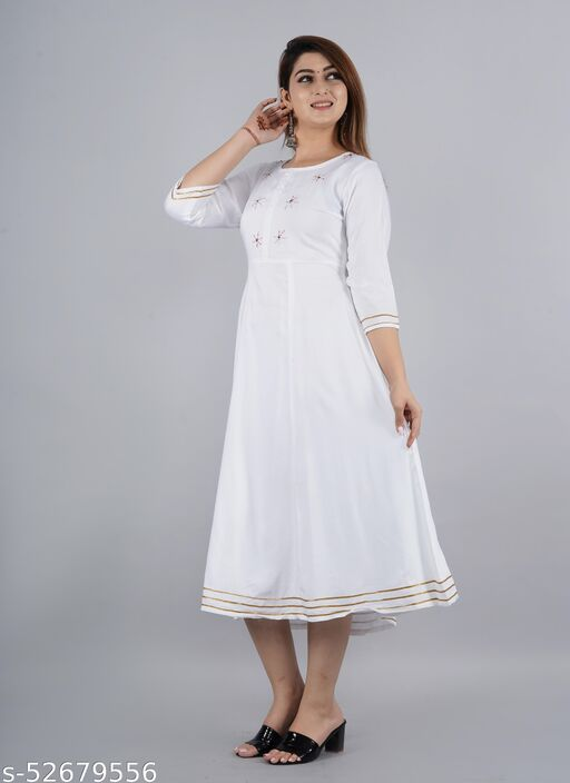 Embrodried Long Kurtis  for Casual and Work wear for Women and Girls