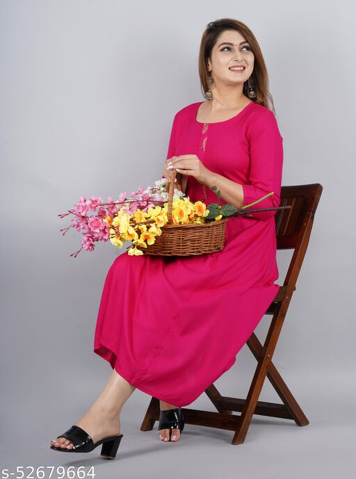 Long  Kurti for Casual and Work wear for Women and Girls