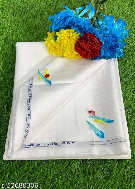 Arvind White Pure cotton shirt fabric MEShirt-0015