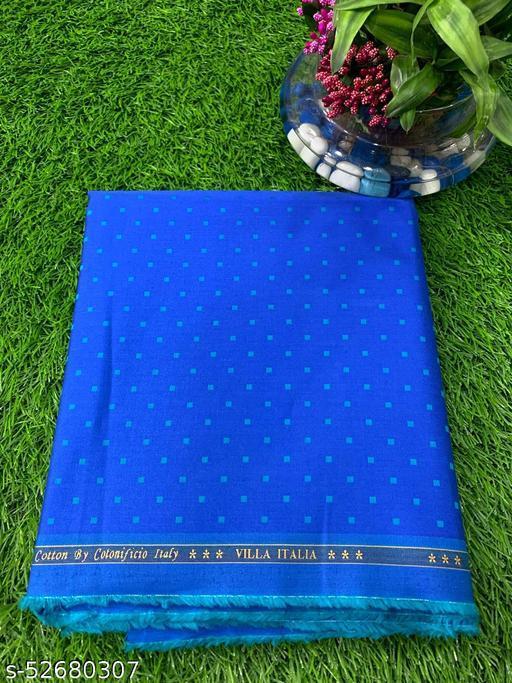 Villa Italia Premium Egyptian Giza Cotton Shirt Fabric (Blue) MEShirt-0060