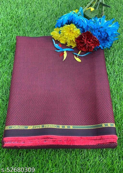 Club Premio Superfine Cotton Solid Unstitched Shirting Fabric (Pink) MEShirt-0038