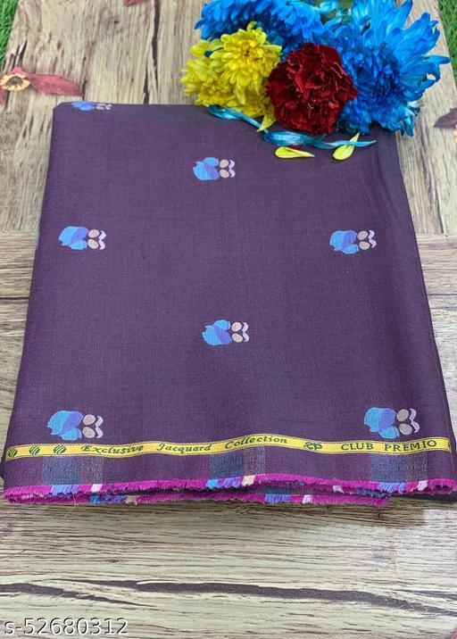Club Premio Egyptian Cotton Jacquard Unstitched Shirting Fabric(Purple) MEShirt-0029
