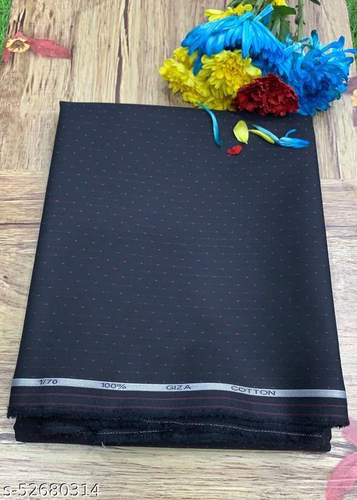 Raymond Giza Cotton Black Unstitched Shirt Fabric MEShirt-0047