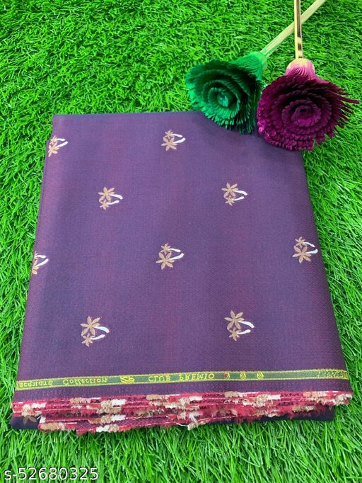 Club Premio Egyptian Cotton Jacquard Unstitched Shirting Fabric (Purple) MEShirt-0073