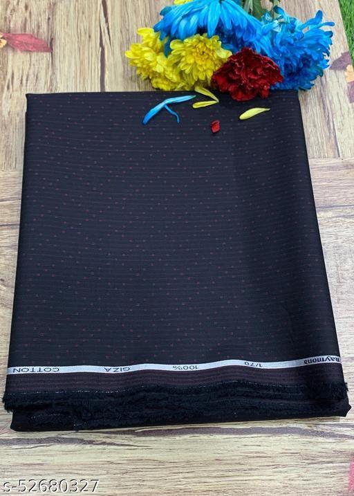 Raymond Giza Cotton Black Unstitched Shirt Fabric MEShirt-0046