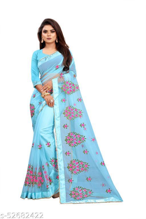SHIVGANGA Woman's new fashion sylish solid saree
