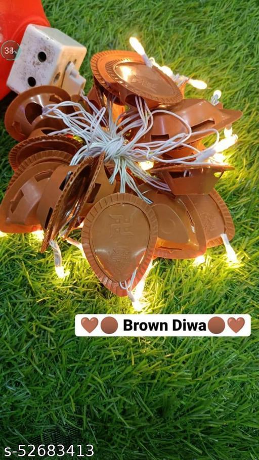 Made in India Diya Light || String Light ||21 LED Diya String Light || Diya Candle Light || Diwali Light for Decoration ||