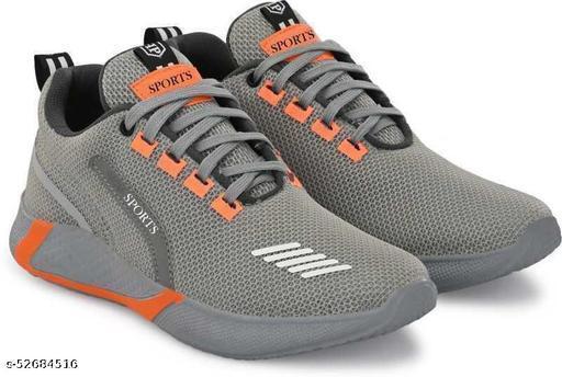 Destony Men's Grey Walking, Gym Comfortable Casual Symbol Men's Sport Shoes