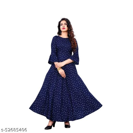 Printed Maxi/Full Length Dress