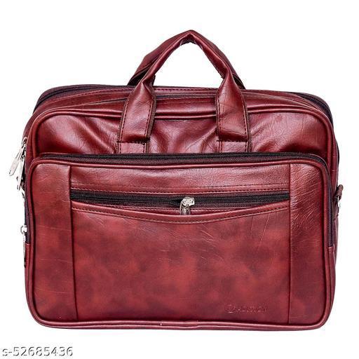 PU Leather Sling Messenger Bag (Brown) Shoulder Bag for Men - 11 Inch
