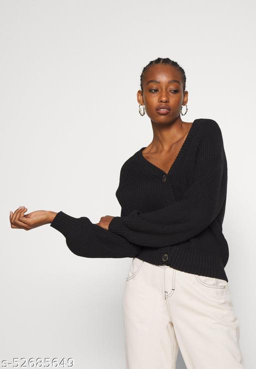 Women Trendy Crop Cardigan