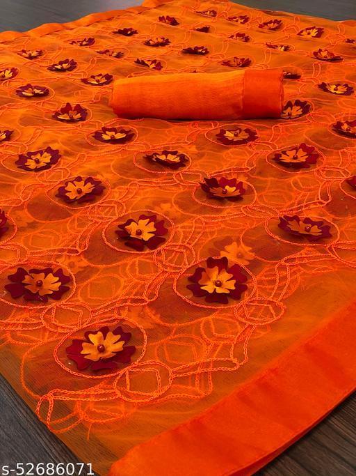 full orange Saree