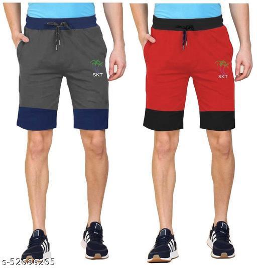 Mens Cut & Sew Shorts Pack of 2