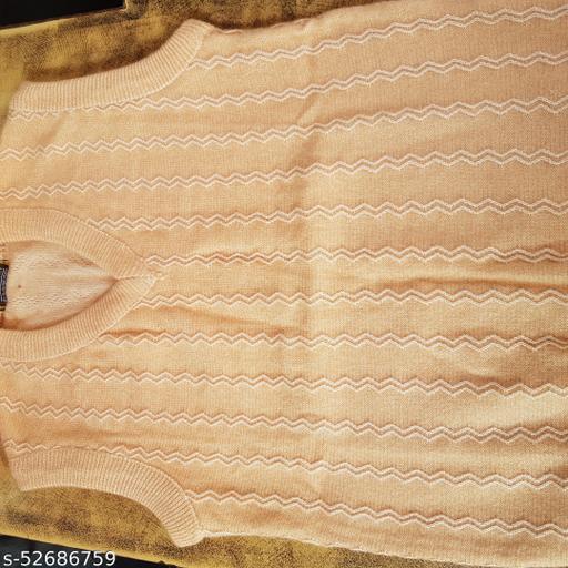 Men's Half Sleeve woollen Self Design Sweater
