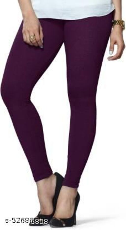 Radical Ankle Length Ethnic Wear Legging Pack of 1 (Dark Violet)