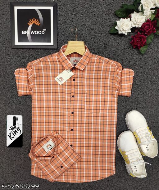 Premium Cotton Checks Shirt For men