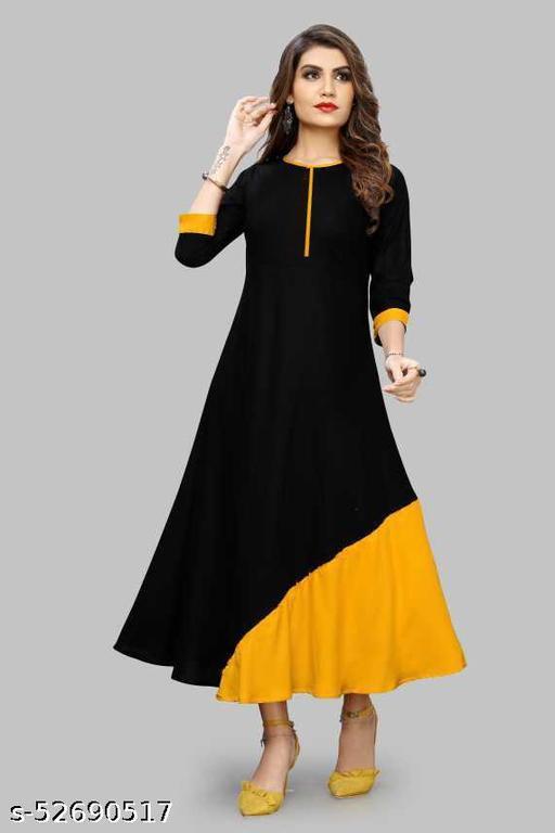 black yellow comfrtable kurtis
