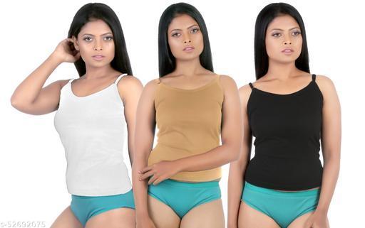 ND Mart :- Women Cotton Fancy Camisole Slip (Pack Of 3)