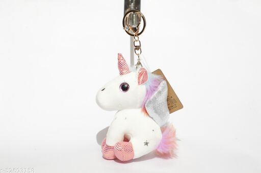ARK Premium Sequence Unicorn Keychain For Gifting With Key Ring Anti-Rust (Pack Of 1)