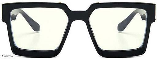 Advanced Stylish Badshah Black Frame Clear Glass