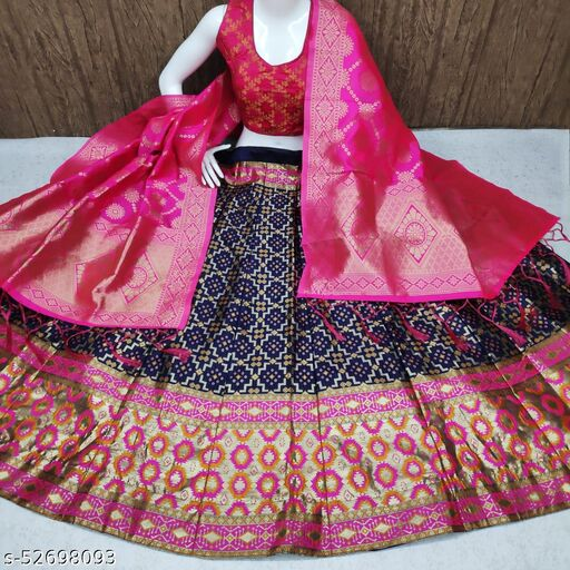 new pattern banarasi brocade women lehanga cholis