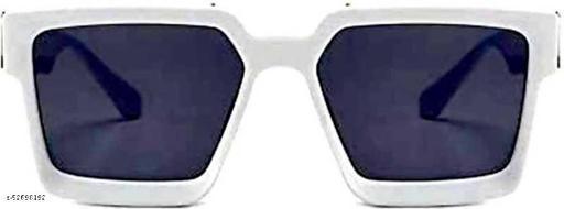 Advanced Stylish Badshah White Frame Black Glass