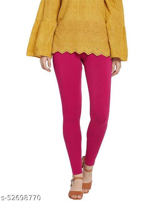 Bella & Laces Cotton Lycra Ankle Length Leggings for Women