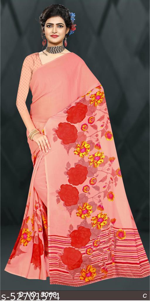 Trandy Bollywood Daily wear Tassar Print Saree