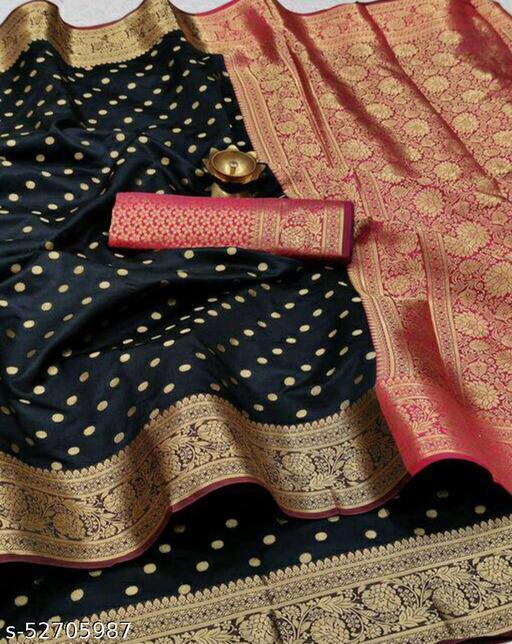 Women's Cotton Silk wadding festive wear Saree With Blouse Piece