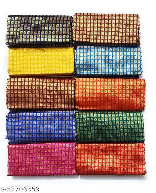 Cotton Blend Multi-colors Unstitched Fancy Blouse Materials 1 Meters Each.(Pack of 10 Pieces)Cotton Blend Multi-colors Unstitched Fancy Blouse Materials 1 Meters Each.(Pack of 10 Pieces)