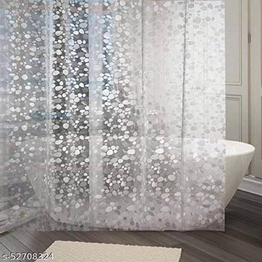 CASA-NEST PVC 3D Translucent Shower Curtain,Size-4.5ft x 8 ft(Length),Bathroom Curtain,Pack of 1 pc