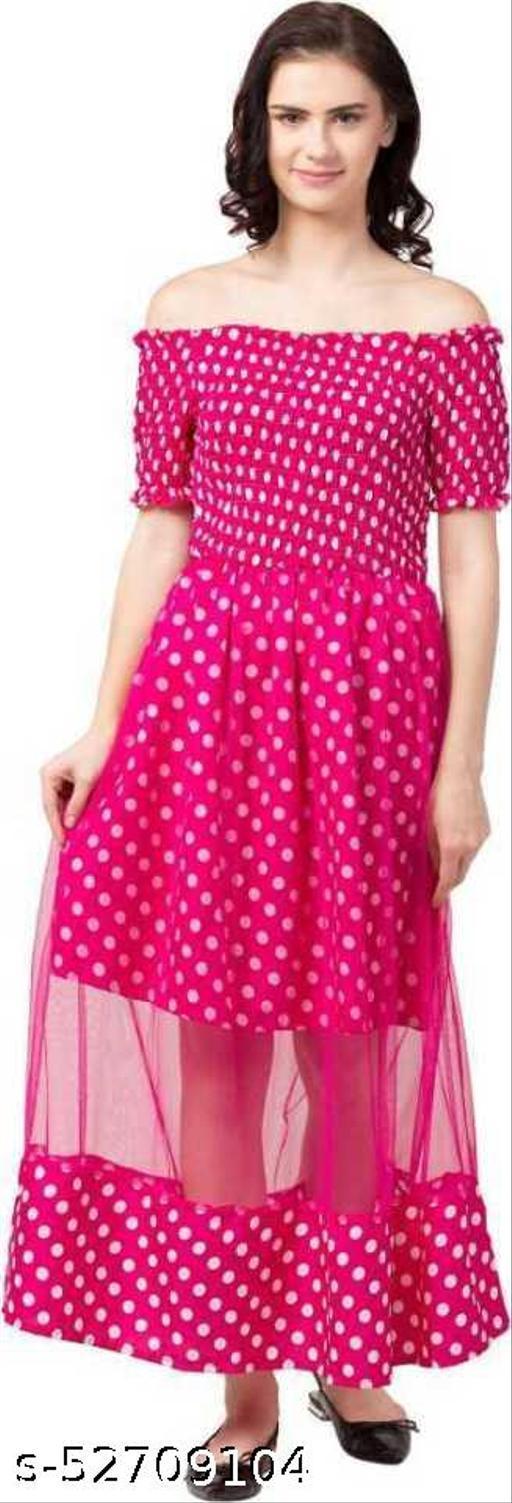 Alexa India Women Stylish & Trendy Fit and Flare Pink Dress