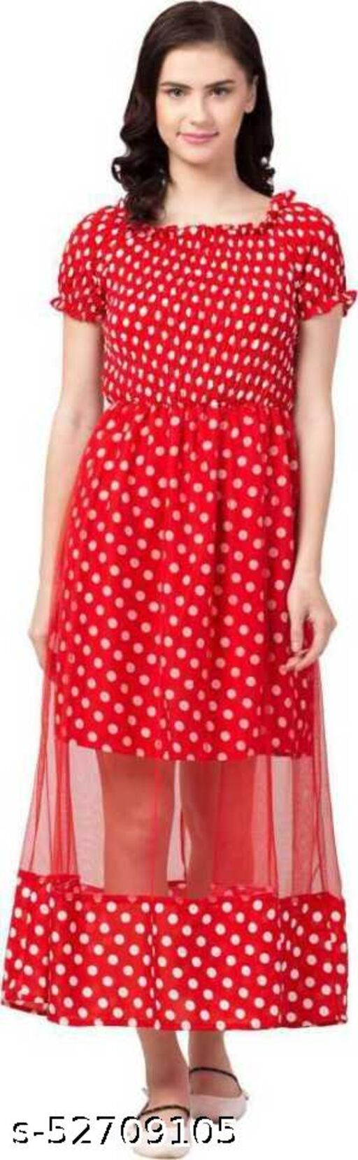 Alexa India Women Stylish & Trendy Fit and Flare Red Dress