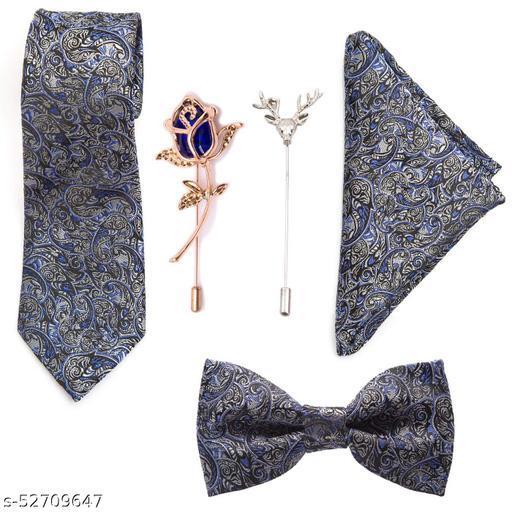 To The Nines Men's Microfiber Tie, Pocket Square, Bow Tie & Lapel Pins