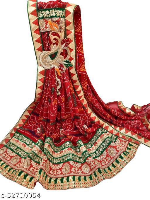 Rajasthani Marwadi Chunri Odhana Dupatta - Pure Georgette - Butta Design