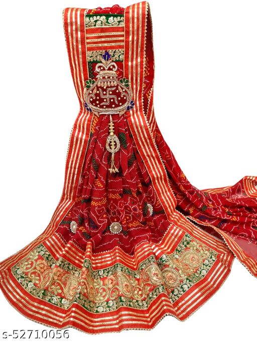 Rajasthani Marwadi Chunri Odhana Dupatta - Pure Georgette - Kalash Design