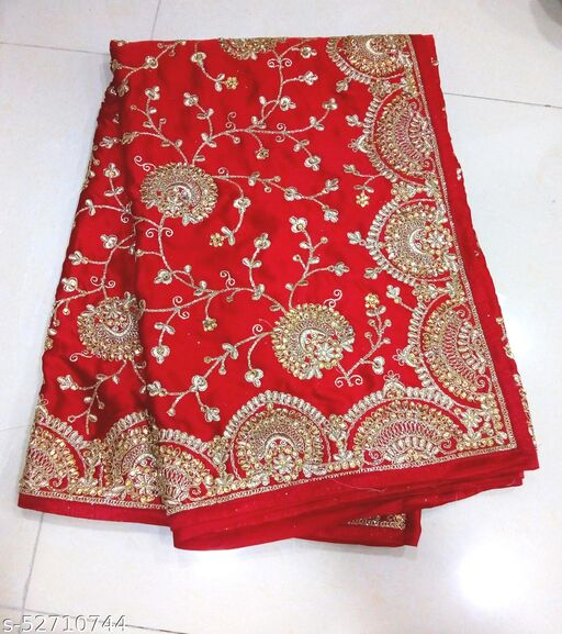 Silk Stone Zari Work Party Wear Saree With Blouse