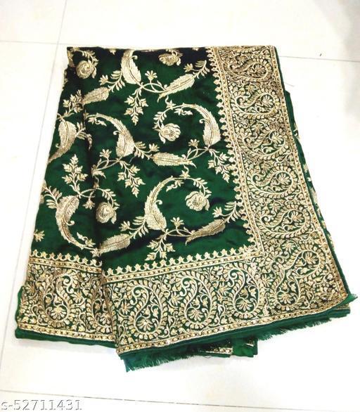 Designer Silk Zari Work Stone Work Party Wear Saree With blouae