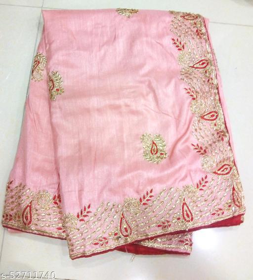 Silk Gota Patti Party Wear Saree With Blouae
