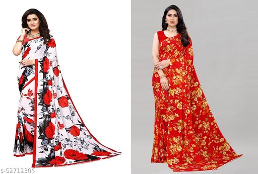 Pack of 2 Georgette Printed Combo Saree